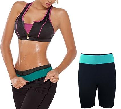 aeed899dd1a65 Ausom Womens Hot Shaper Thermo Neoprene Slimming Pants Shorts Yoga Leggings  Latex Waist Girdle Cincher Trainer