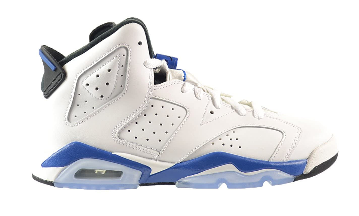 Weiß, Sport Blau-schwarz Nike Jungen Air Jordan 6 Retro Bg Turnschuhe, schwarz