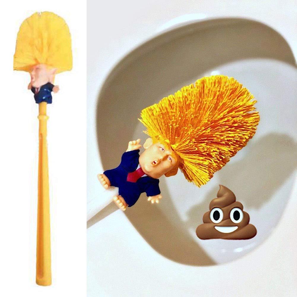 Mighty-eagle Donald - Cepillo para Inodoro, diseñ o de muñ eca con Texto en inglé s Make WC Great Again Commander in Crap Cool and Unique Trump Toilet Scrubber