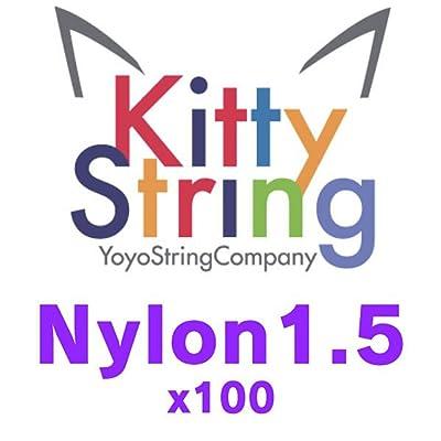 Kitty String Nylon 1.5 Yo-Yo String - 100 Pack of String (Yellow): Toys & Games