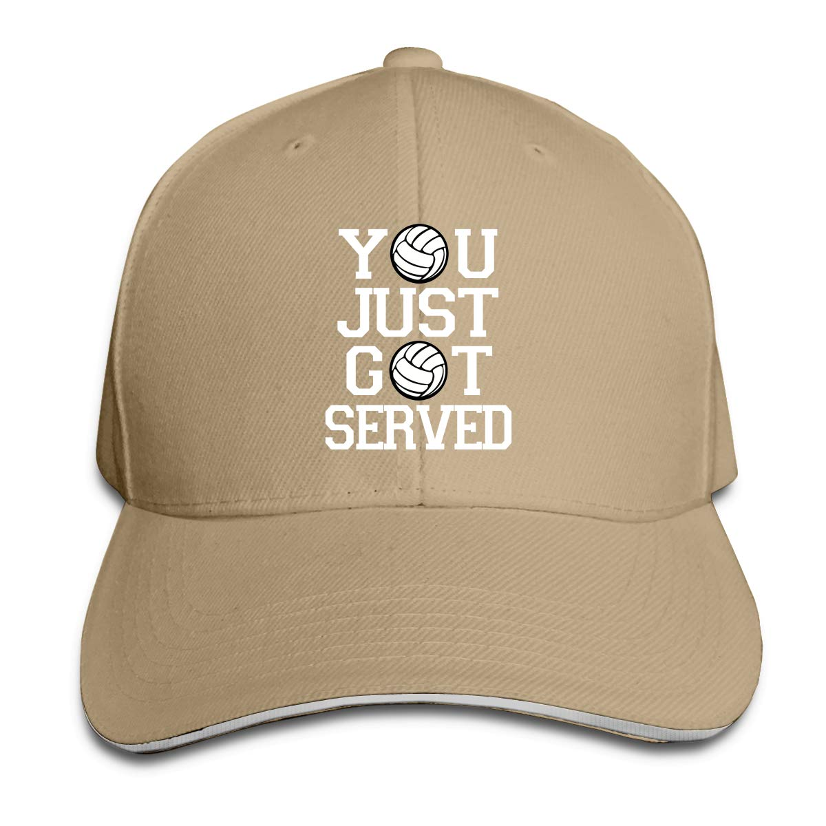 WFIRE Adult Baseball Caps You Just Got Served Volleyball Custom Adjustable Sandwich Cap Casquette Hats