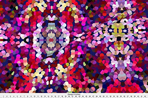 Minky New Dot (Spoonflower New Years Eve Fabric New Year's Eve Confetti by Theartwerks Printed on Minky Fabric by the Yard)