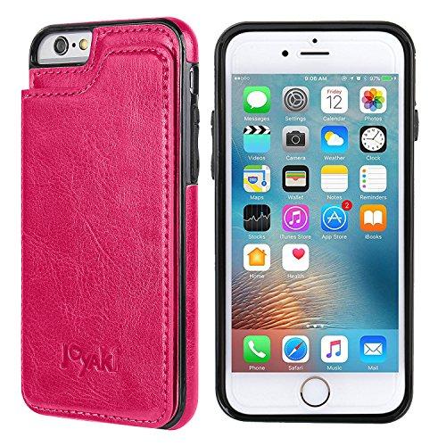 (iPhone 6/6s Wallet Case-JOYAKI PU leather card Case -Slim fit Executive Wallet Card Case - Ultra Slim Protective Phone Case)