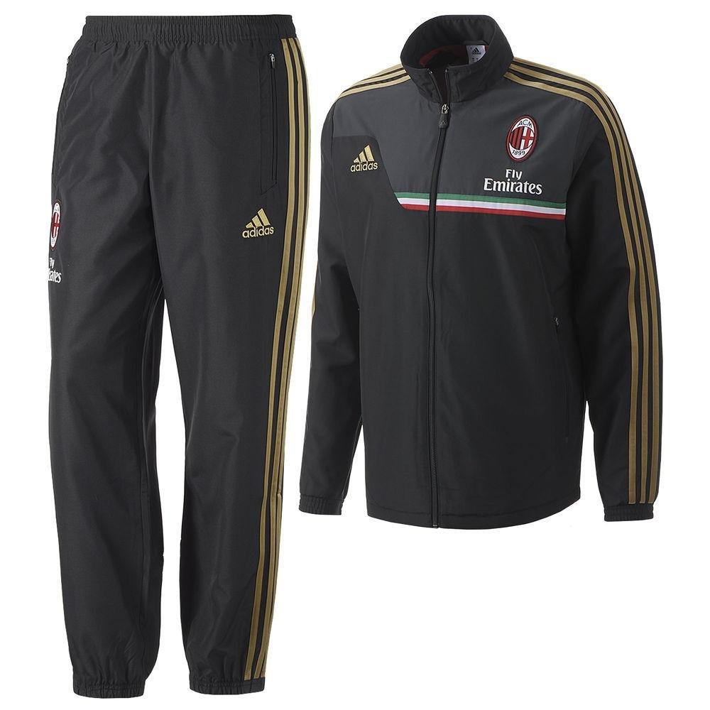 adidas 2013-14 AC Milan Chándal (Negro) presentación, Color Negro ...