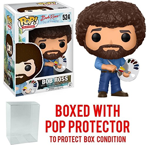 Funko Pop  Television  Bob Ross   Bob Ross Vinyl Figure  Bundled With Pop Box Protector Case