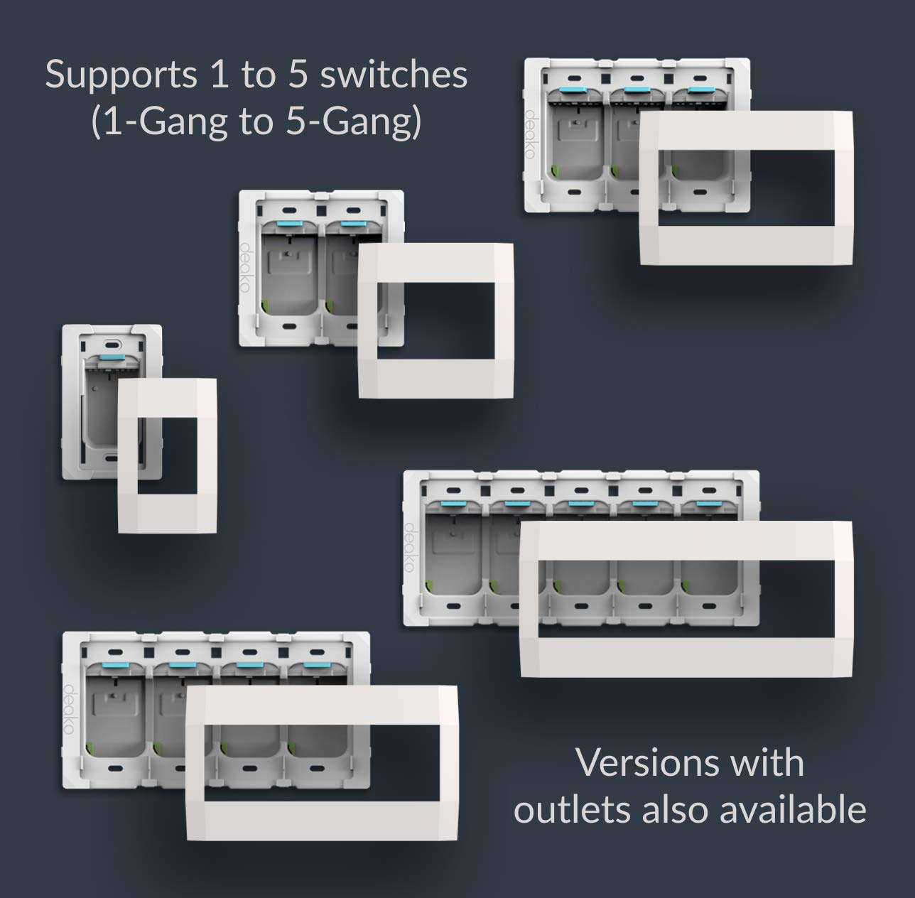 Deako Smart Dimmer for the Deako Lighting System. Bluetooth Mesh Dimmer Light Switch, Touchscreen Display Scene Controller; Amazon Alexa, Google Home, Voice Control DS-CDMB-WHWH-UCX