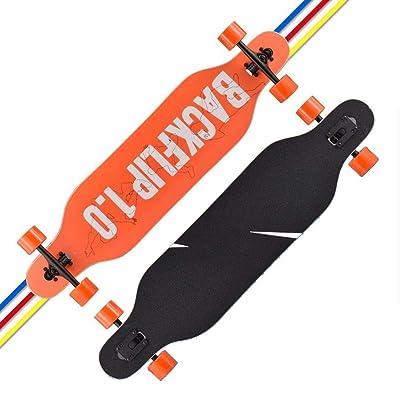 Aniseed Fractal Complete Skateboard Longboard 9.4 X 30.9-Inch Orange Gold Pattern : Sports & Outdoors [5Bkhe0303696]