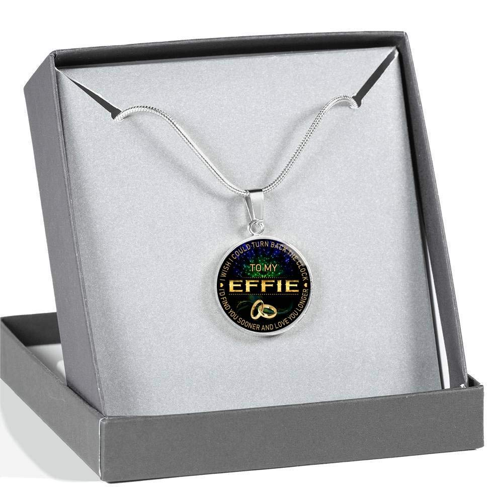Wife Jewelry HusbandAndWife Necklace for Women to My Effie I Wish I Could Turn Back Clock I Will Find You Sooner Gifts Mother Necklace for Mom for Mom
