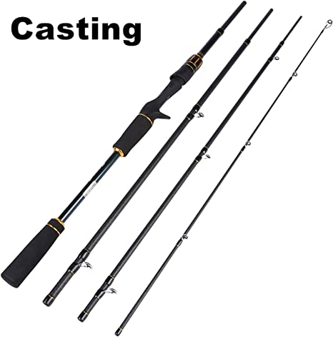 Small Lake Portable Lure Fishing Rod 2.1M 2.4M 4 Section 24T ...