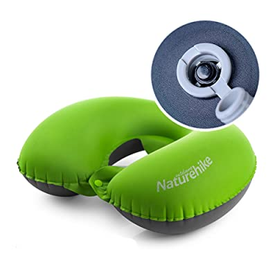 NatureHike en forme de U cou Oreiller Oreiller gonflable Gear de couchage pour le camping, randonnée, Bus Trip, Voyage d'air