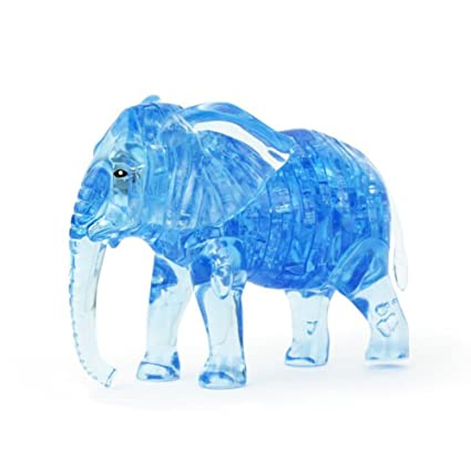 NOQ 3D Crystal Three-Dimensional Puzzle/Creative DIY Puzzle Childrens Toys/Assembled Plastic Building Blocks/Elephant/Gift