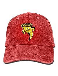 MDFY OEWGRF Tornado Pizza Unisex Adjustable Baseball Caps Denim Hats Cowboy Sport Outdoor
