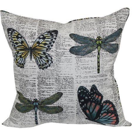 Butterfly Dragonfly Outdoor Patio Toss Pillow (Patio Brentwood Furniture)