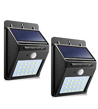 Luz solar - por Solnergy 20 LED Sensor solar brillante Luz tenue Iluminación de movimiento exterior