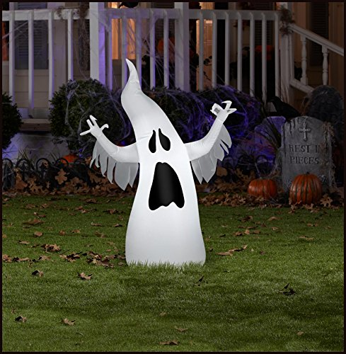 Gemmy 54686 Airblown Halloween Draped Ghost Inflatable, 13.78