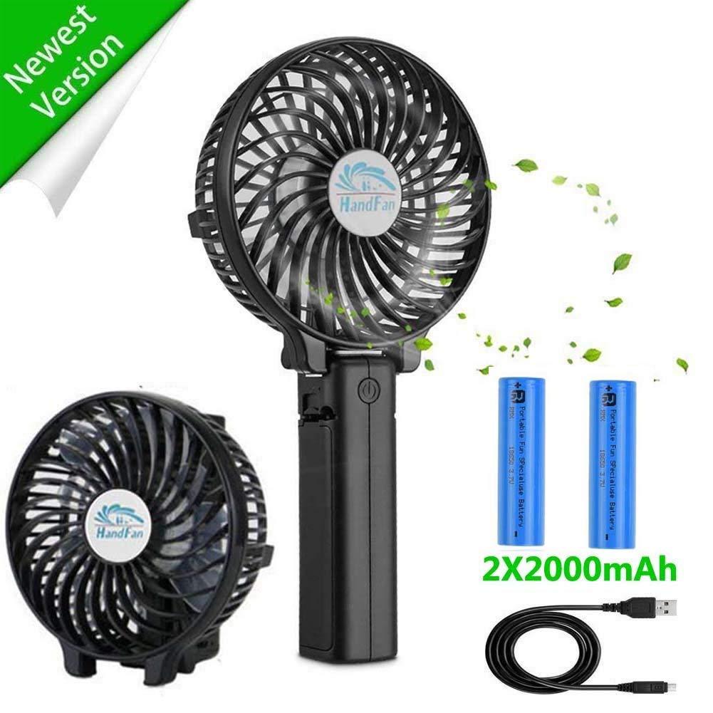 JUBLUN Ventilateur /à Main USB Rechargeable avec 3 Vitesses Pliable Ventilateur de Bureau Bureau et Voyage /… pour Maison