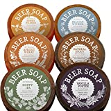 BEER SOAP 6-PACK - All Natural + Made in USA - Actually Smells Good! Perfect Craft Beer Gift Set for...