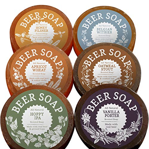 BEER SOAP 6-PACK - All Natural + Craft Beer Gift Set
