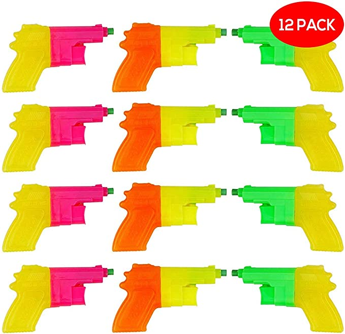 BRAMBLE! 12 Pack Mini Pistolas de Agua Plástico para Niños ...