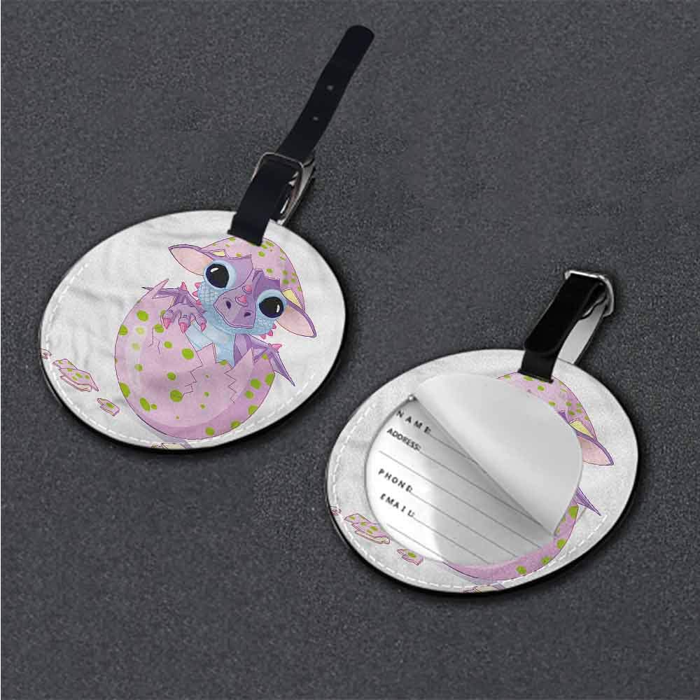 Men Luggage Tag Cute,Cartoon Style Wildlife Nature Creative gifts