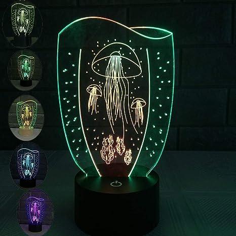 Lámpara de Medusa Tropical acuario luz pecera luz LED lámpara de escritorio relajante noche de humor