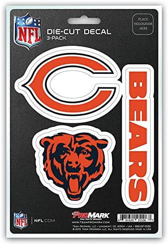 "Chicago Bears Team Slogan Decal 3/"" x 12/"" Promark NFL"