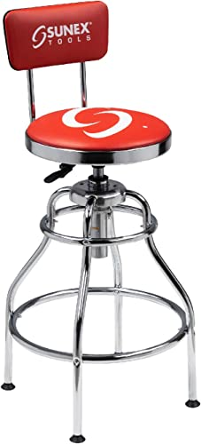 Sunex 8516 Hydraulic Shop Stool, Chrome