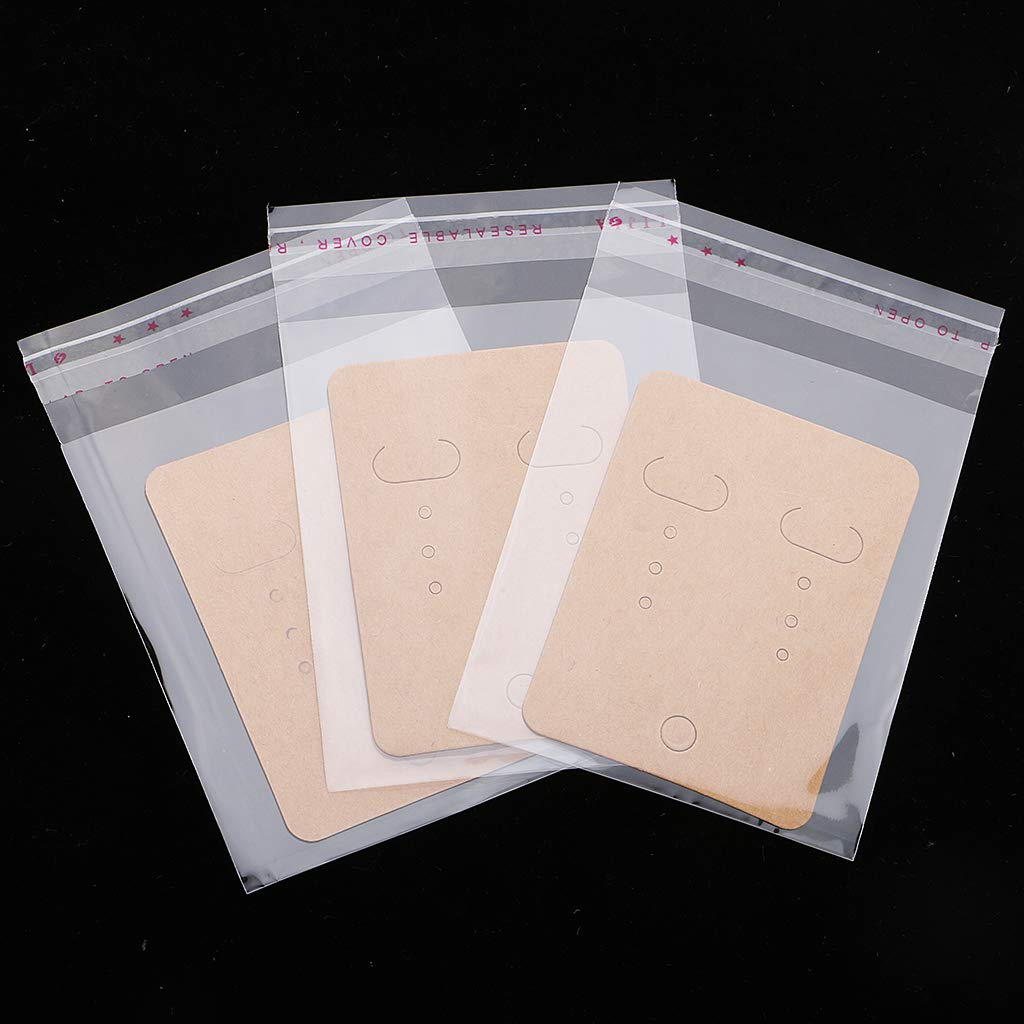 IPOTCH 200 Set di Gioielli in Carta E Plastica Orecchini con Carte con Sacchetti Autosigillanti