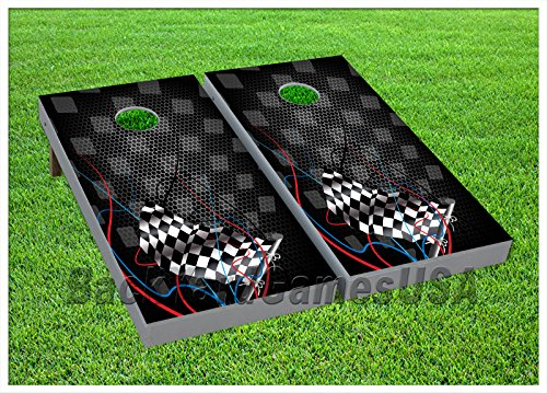 BackYardGames VINYL WRAPS Cornhole Boards DECAL Nascar Flag Bag Toss Game Stickers 456