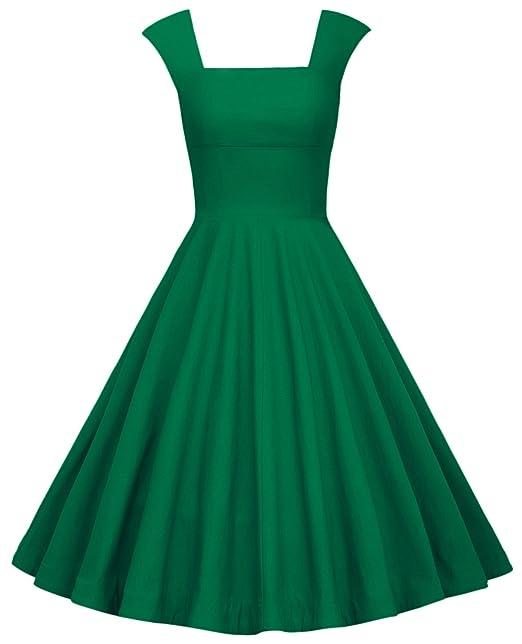 MUXXN - Vestido de Fiesta para Mujer, diseño Rockabilly de los años 50, para