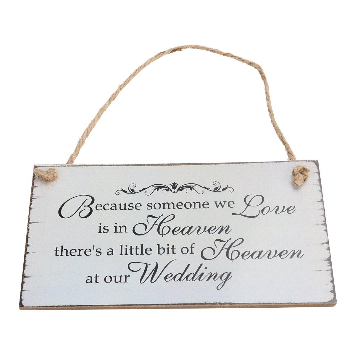 BESTOYARD Wedding Hanging Sign Wooden Wedding Plaques Hanging Ornmanet Decorations