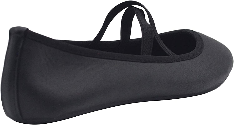 dELiAs Ladies Ballet Flats Slip On Shoes with Elastic Straps