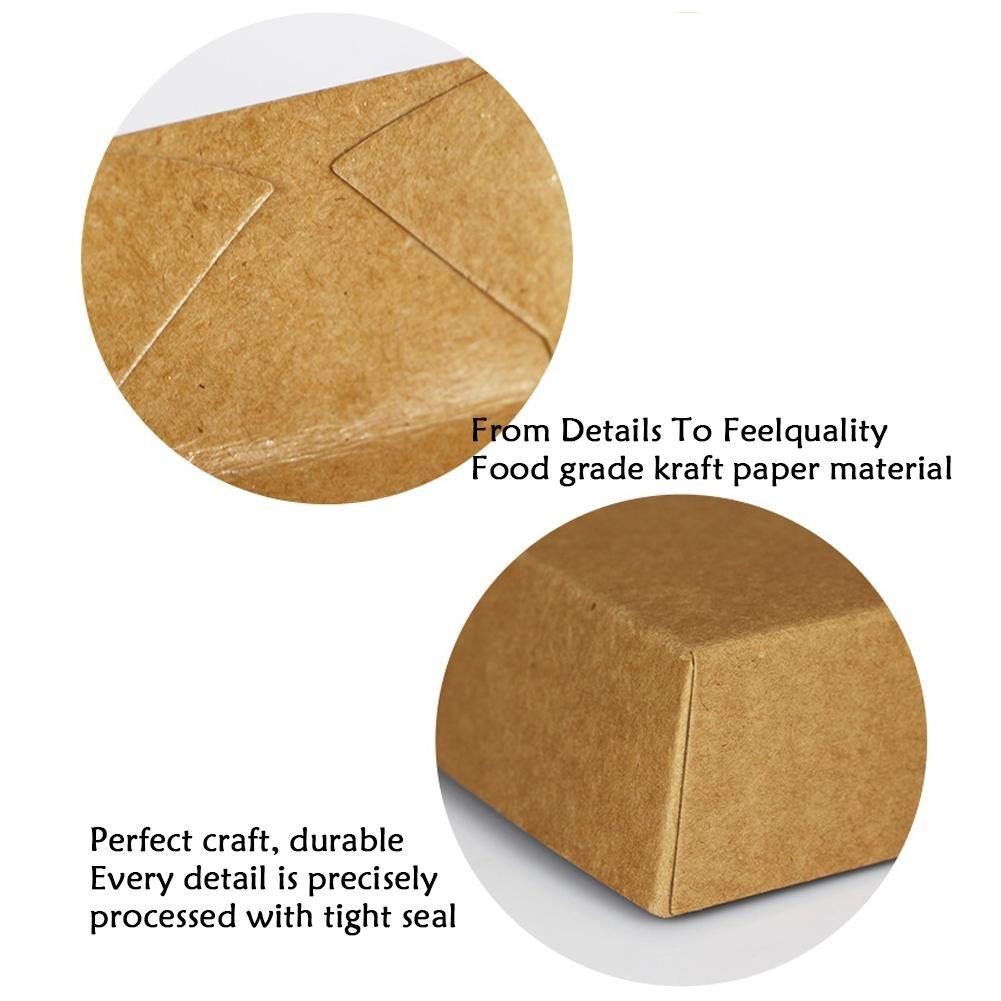 Juego de 50 cajas de papel kraft bento a prueba de aceite caja de almuerzo desechable en forma de barco patata palomitas y barbacoa Somedays bandeja para pollo frito