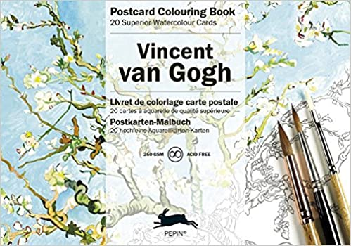 Van Gogh (Postcard Colouring Books) (English, Spanish, French ...
