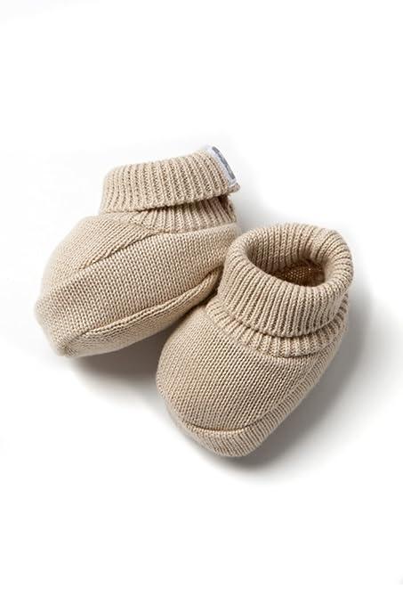 Patucos de Punto 100% algodón para Bebé Color Tostado ...