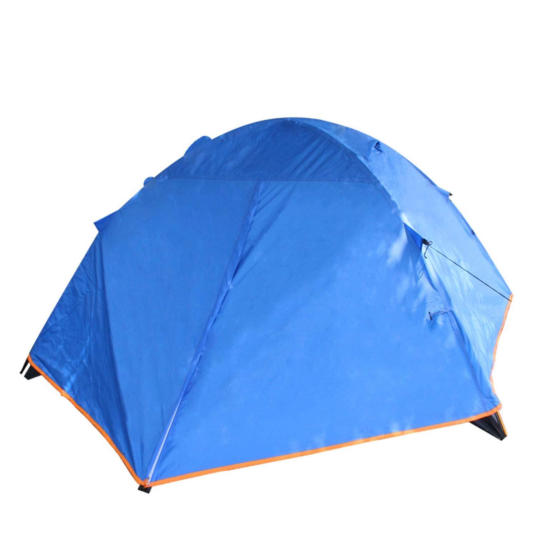 YXXHM- Tente de Camping Trois Saisons en Aluminium de Double de Tente de Camping imperméable à la Pluie Double Double extérieure bleu 3-4 People bleu 3-4 people -
