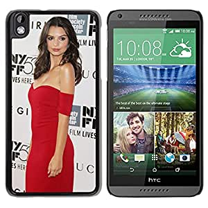 Beautiful Girl Cover Case For HTC Desire 816 With Emily Ratajkowski Girl Mobile Wallpaper(127) Phone Case