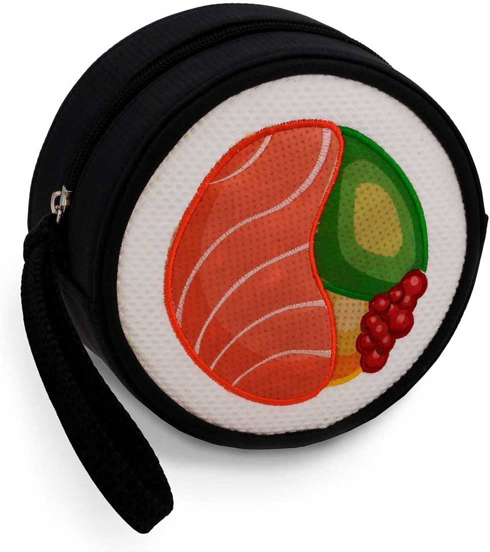 9 cm Oh My Pop Red Maki-Sushi Purse Coin Pouch