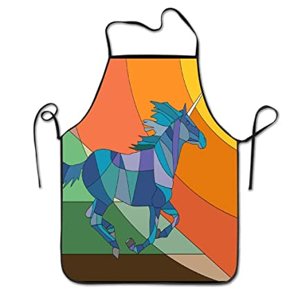 Christmas Horse Cartoon.Amazon Com Aprons For Girls Cooking Colorful Horse Cartoon