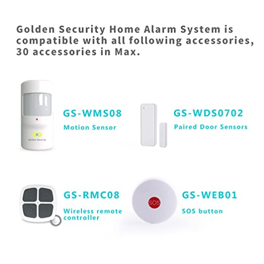 Sistema de alarma Golden Security para el hogar, de color ...