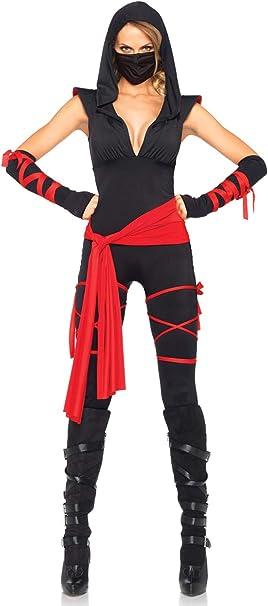 Amazon.com: Leg Avenue Womens 5 Piece Deadly Ninja Costume ...