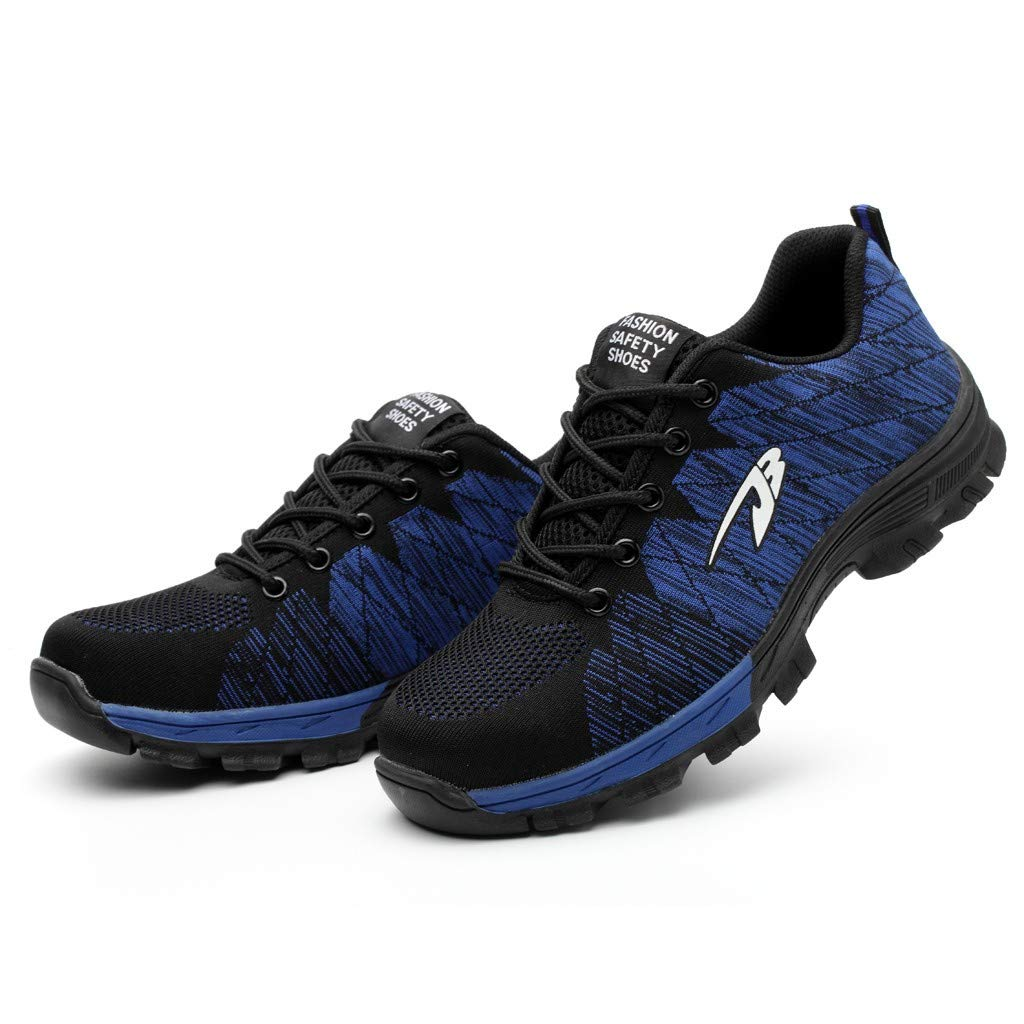 Hurrybuy Mens Running Shoes Breathable Mesh Sneakers Soft Lightweight Shoes Blue