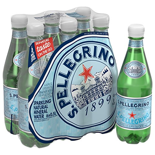 S.Pellegrino Sparkling Natural Mineral Water, 16.9 fl oz. (6 Count) - San Pellegrino Mineral Water