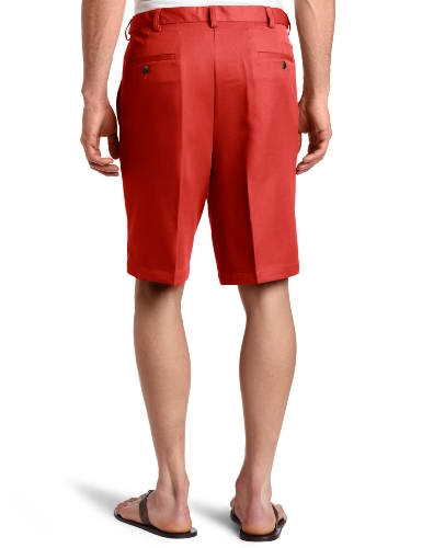 Haggar Men's Cool 18 Gabardine Hidden Expandable Waist Pleat Front Short