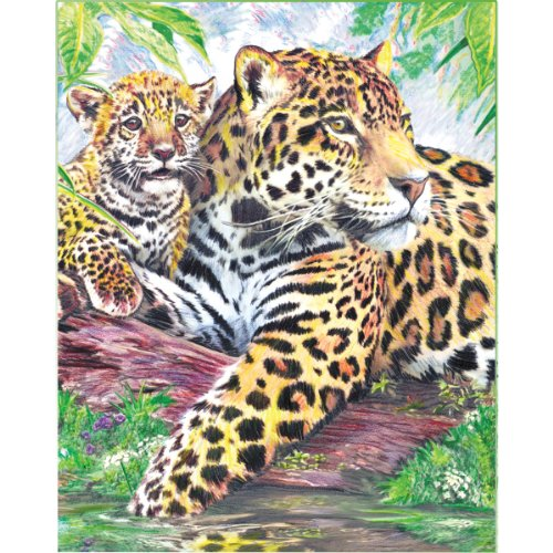 - Royal and Langnickel Colour by Number Pencil, Jaguar by Pool