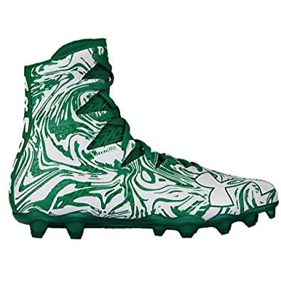 36eca5937fda Image Unavailable. Image not available for. Color: Under Armour UA Highlight  Lux MC White/Green Men's Football Cleats ...