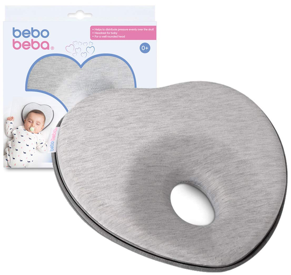 Amazon Com Newborn Baby Head Shaping Pillow Memory Foam Cushion For Flat Head Syndrome Prevention Prevent Plagiocephaly Best Perfect For Baby Boy Girl Grey Baby