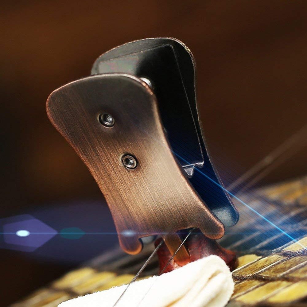 Binghotfire Brown Silencieux Silencieux Clip Or pour Erhu Erhu Accessoires Marron