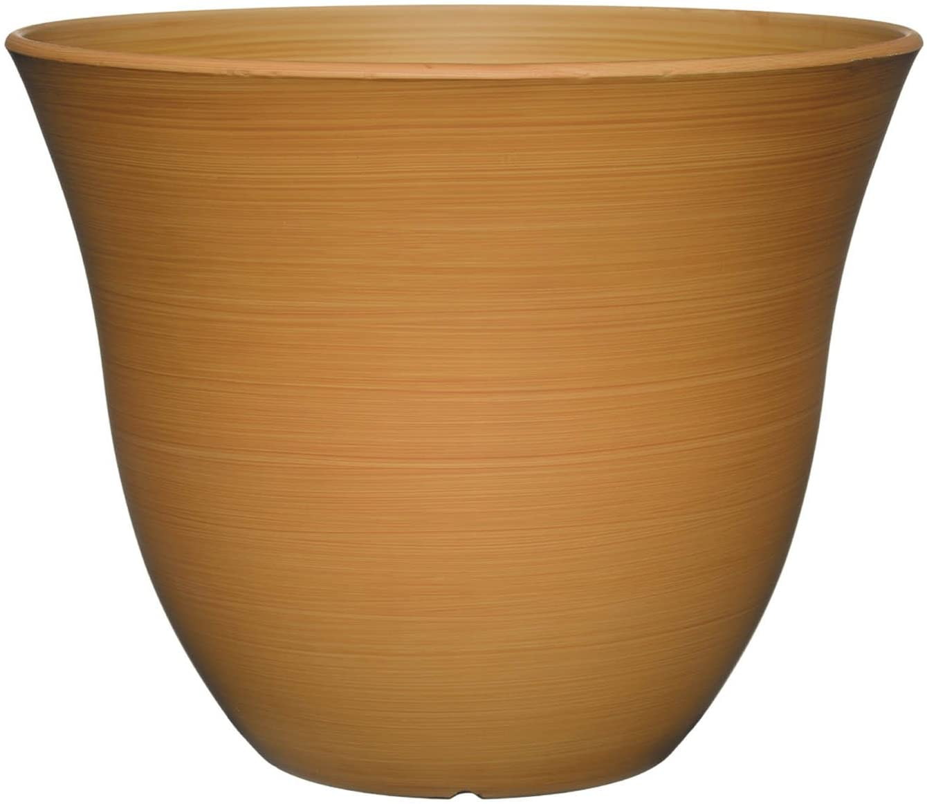 "Classic Home and Garden Honeysuckle Planter, Patio Pot, 15"" Bamboo"