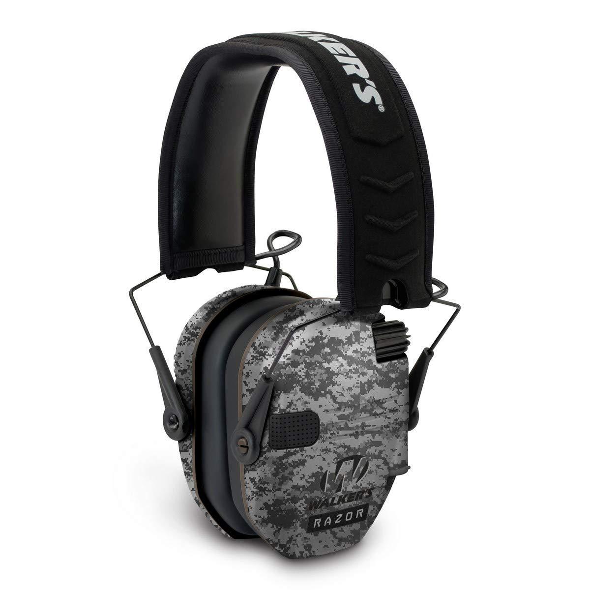 Walkers Razor Slim Electronic Earmuff Digital Camo by Walker's Game Ear